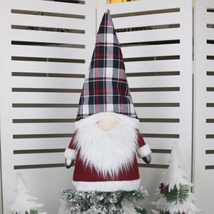 Gnome Tree Topper Christmas Ornaments 25 Inch Large Santa Gnomes Plush Scandinavian Decorations DHE1255