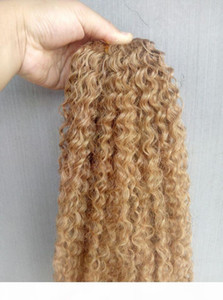 New Style Brazilian Virgin Remy Kinky Curly Hair Weft Human Hair Extensions blonde 270# Color 100g one bundle