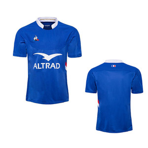 2019 XV de France Home Rugby Jersey 19 XV DE Francia Supporter Francia Rugby Maillot deley Francese Boln Rugby Taglia S-5XL