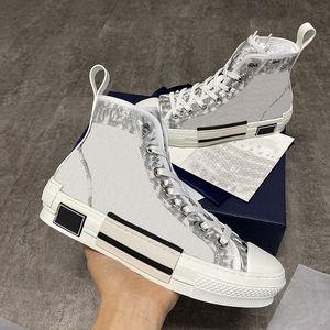 Hot Designer de vendas sapatos Alto-top Oblique Sneakers Homens Mulheres Lace-up Casual Sapatos Runner Trainers Branco Borracha Preta Sola Sapatos EU45