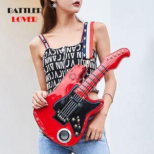 Bolsas de guitarra para mujeres 2019 Bolsas Mujeres Bolso 5AA USB USB SD Bluetooth Hombro Mensajero Mensajero Muchacha Bolsos de lujo Bolso de mujer C0121