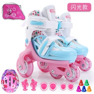 ESu1Z children's set flash beginner's children's set flash roller skates beginner's roller skates