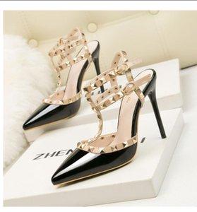 Sexy 8 2021 novas sandálias de salto alto flor sapatos de verão strass finos saltos mulheres sandálias de salto alto tamanho frete grátis 34-39