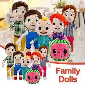 귀여운 15-33cm cocomelon 봉제 장난감 소프트 만화 가족 cocomelon jj 가족 자매 형제 엄마와 아빠 장난감 dall 키즈 Chritmas 선물 FY7339