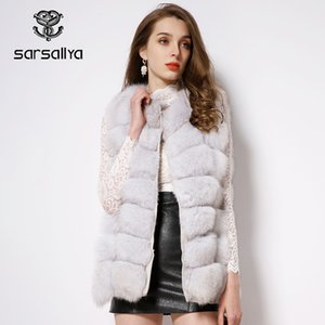 Plus Size Real Fur Vest Women Winter Natural Fox Fur Vest Ladies Fur Sleeveless Coat Female Warm Casual O Neck Full Pelt Outwear