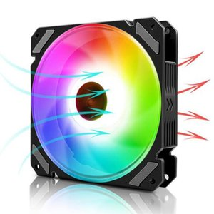 RGB Computer Case Fans 120mm LED Air Cooling Silent Remote Control DIY PC Cooler