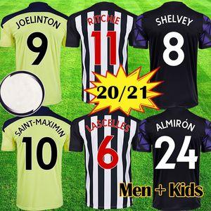 Yeni 20 21 NUFC Futbol Formaları Shelvey 2020 2021 Joelinton Futbol Gömlek Almiron Ritchie Gayle Ekipmanları Erkekler Kids Kitleri