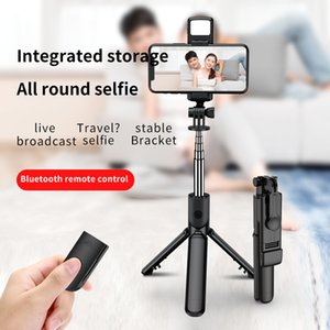 Bluetooth Selfie Stick Remote Control Tripod Handphone Live Photo Holder Tripod Camera Self-Timer Artifact Rod with fill lighter