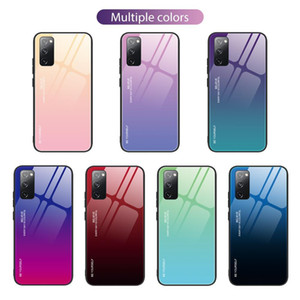 Samsung Galaxy S21 Ultra S21 Закаленная градиентная стеклянная оболочка, S21 Plus Мобильный телефон Ударное стекло задняя крышка