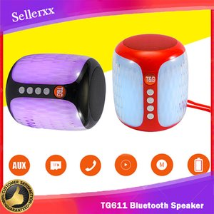 TG611 colorful lights wireless mini bluetooth speaker 500mah Double Speakers subwoofer audioHandsfree Portable Speaker