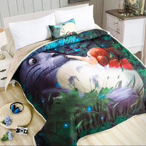 Cartoon Summer Comforter Air-conditioning Quilts Cotton edredones colchas Washable ar condicionado Blanket bedspread 200x230cm