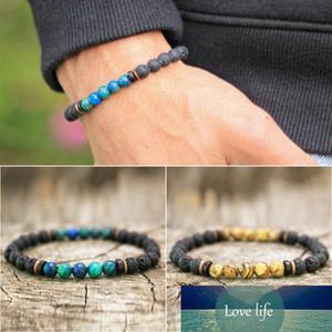 Mcllroy Bracelet Men Lava Stone Bead Tibetan Buddha Bracelet Bangle Homme Charm Strand Women Men Jewelry Mens Bracelets
