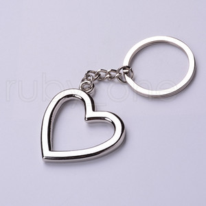 Novelty Zinc Alloy Heart Shaped Keychains Metal Keyrings For Lovers Festive Party Favor Party Favor RRA3916