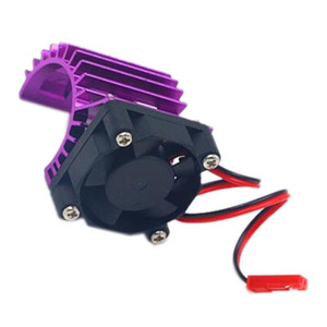 Motor Cooling Heat Sink with Cooling Fan for 1 10 Electric RC Car Vented 380   390 Motor Buggy Crawler Kit