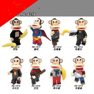 Originale serie anime grande bocchino assemblato minifigure scimmia blocco borsa azione figure giocattolo per bambini adulto
