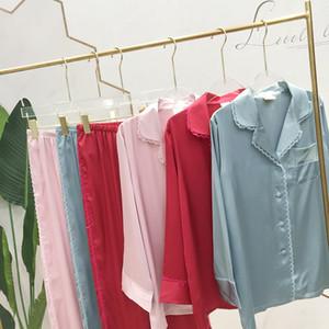 Lettre imprimée Pyjamas Fashion Dentelle Dentendance Pour Femmes Hommes Soft Lover Cardigan Cardigan à manches longues 6 Style