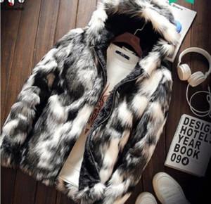 personnalité 2020 hommes et imitation laine veste en cuir imitation vison camouflage jeunesse manteau de fourrure