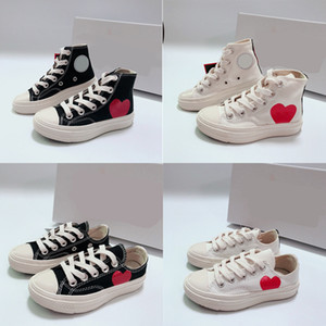 2021 Bebek Çocuklar Örgü Kız Erkek Çocuklar Için Tuval Ayakkabı Beyaz Siyah Çocuk Kız Erkek Spor Ayakkabı Boyutu 23-35