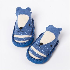 2021 Fashion Baby Socks with Rubber Soles Infant Sock Newborn Autumn Winter Children Floor Socks Shoes Anti Slip Soft Sole Sock