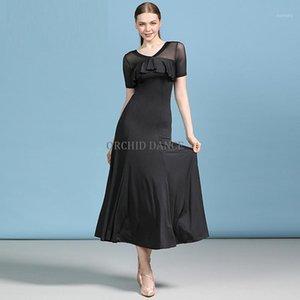 Billig sexy frauen mädchen schwarz lateinische ballroom tanz praktische kleidung1