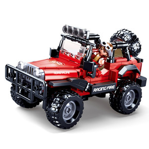 New Jaeger Off-Road League Jeeped Off Road Vehicle SUV Car Building Bricks Winner Blocks Classic Model Kit Kids MOC Toys Boys X0102