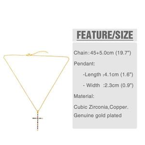 Accessories Cross Pendant Necklace Designer Colors Zircon Cross Necklace Nkr25 Accessories Cross sqccUR beauty888