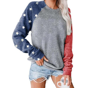 Women Hoodies America Flag softball Jumper Outerwear Lady Loose Round Neck Long Sleeve Sweatshirts Pullover Hoodie Casual Apparel PPD1854