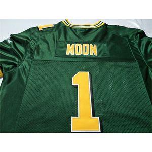 Пользовательские 123 молодежные женщины винтажные эскимос # 1 Уоррен Луна Футбол Джерси Размер S-4XL или пользовательское имя или номер Джерси