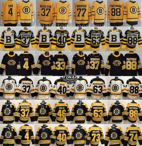 Reverse Retro Boston Bruins Jersey Patrice Bergeron Brad Marchand David Pastrnak Charlie McAvoy Tuukka Rask David Krejci Bobby Orr Hockey