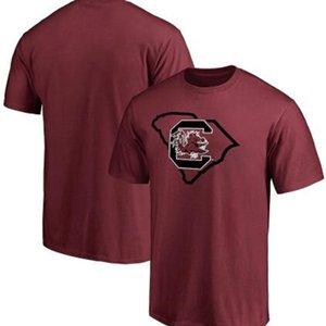 South Carolina Gamecocks Round collar T-Shirt Mens Designer T Shirt Casual Short Sleeves Fashion Printing High Quality Tees 002