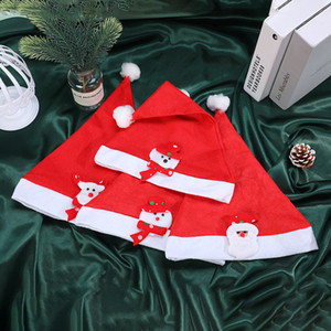 Christmas LED Winter Hats Cartoons Night Light Hats Santa Claus Festivals Hat Holiday Party Accessories Christmas Hats Adult and Kids Size