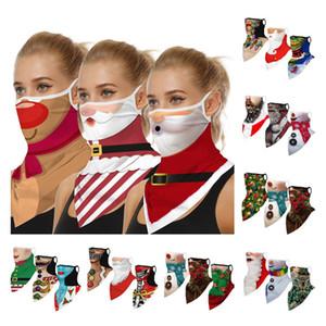 3D Printing Christmas Party Masks Face Shield Skull Multi-Function Magic Scarf Turban Riding Mask Headband Bandanas 50pcs XL3091