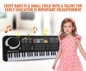 1 шт. / Многофункциональная 61 Клавиши Ранняя Образование Музыкальная электронная клавиатура с MikePhone Kid Piano Record Record Playback с розничной упаковкой