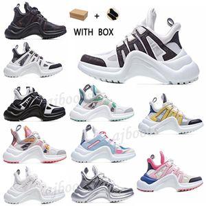 2021 Nova Moda Casual Bloco Arquilíbrio Genuíno Pai Sapatos Sapatilhas Sapatos Malha Preto Bóias Respirável Plataforma Popular Stylis Sho A8JN #