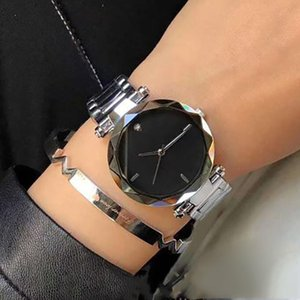 2020 new fashion stainless steel waterproof top gift clock brand women's dress watch stainless steel drill 34mm watch wholesale