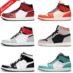 BEST 2020 NEW JUMPMAN CHICAGO BLACK TOE 1S женщин мужская баскетбольная обувь 1 unc og легкий дым горячие продажи сосны зеленые тренеры Snea