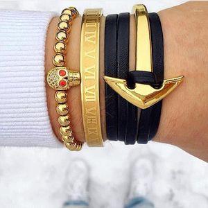 MCLLROY Gold Bangles / Frauen / Männer / Liebe / Paar / Edelstahl / Gold / Armreifen Modeschmuck Geschenk für männliche weibliche Valentinstag männlich1