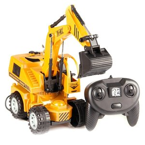 1:24 RC Excavator toy RC Engineering Car Alloy plastic Excavator RTR For kids Christmas gift Remote Control Engineering Vehicle Z1124