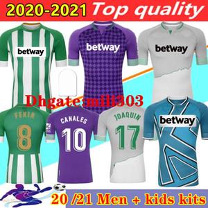 Hombres + Niños 2020 2021 Real Betis Canales Soccer Jersey 20 21 Joaquin B.Iglesias Fekir Camiseta de Fútbol Hogar de la tercera camisa de fútbol
