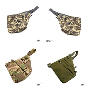 Concealed Tactical Storage Gun Holster Men's Left Right Nylon Shoulder Anti-theft Chest Bag Hunting Sling XA696WA J1209