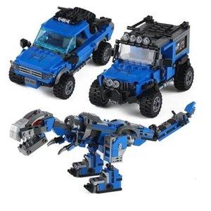 3 change spelling pistol dinosaur engineering car robot children boys puzzle assembling building block toys
