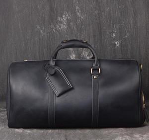 أعلى جودة الرجال واق حقيبة 50 55 سنتيمتر جلد طبيعي السفر حقائب اليد حقائب كبيرة الصليب الجسم حقائب اليد حقيبة مع قفل حقيبة القماش الخشن مفتاح
