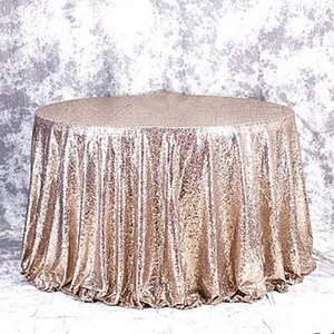 Rose Gold Sequin Tablecloth Glitter Round Rectangle Embroidered Sequin Table Cloth For Wedding Party Tablecloth Sequin Decor jllfUA