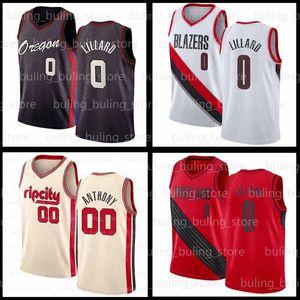 Damian 0 Lillard Jersey Carmelo 00 Anthony 2020 2021 Nuovo Portland Phoenix Trail Suns Mens Blazer Devin 1 Booker Chris 3 Paul Jerseys