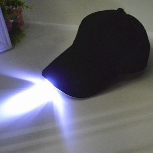 Bright Glow in Dark Reading Fishing Jogging Light Up LED Sport Hat Baseball Caps Luminous Holiday Hat for Unisex TY66