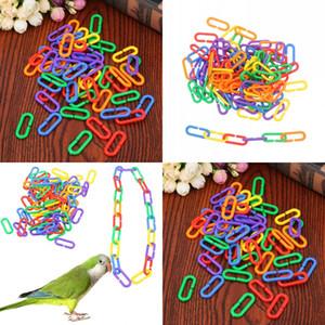 Línea de cadena de plástico Pájaro de pájaro Loro de color Pájaros Tipo C Gnaw Juguete Un paquete de 100 PCS NUEVA LLEGADA MULTICOLOR 6 5JX J2
