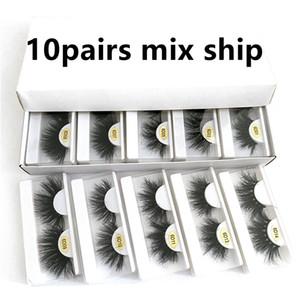 Hot 10 Styles 25mm eyeLash 3d Mink Lashes in Bulk Natural Long Mink Lashes False Eyelash 3d mink false eyelash free ship