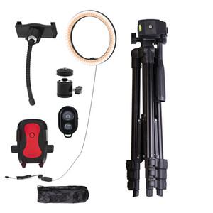 10 inç Video Işık Dim LED Selfie Yüzük Işık USB Halka Lambası Fotoğraf Işık Telefon Tutucu Ile 2 M Tripod Standı Makyaj YouTube