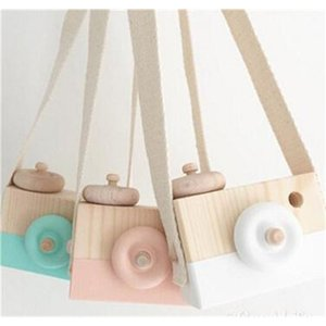 2020 New Style Wooden Toy Camera Creative Toy Neck Photography Prop Decor Children Festival Gift Baby Educational Toy L131