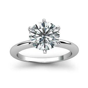 925 Sterling Silber Ring 1ct 2ct 3ct Classic Style Diamant Schmuck MOISSANITE RING Hochzeit Jubiläum Ring für Frauen Y1119